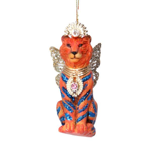 Fantasy Resin Pink Lemur with Wings Christmas Decoration