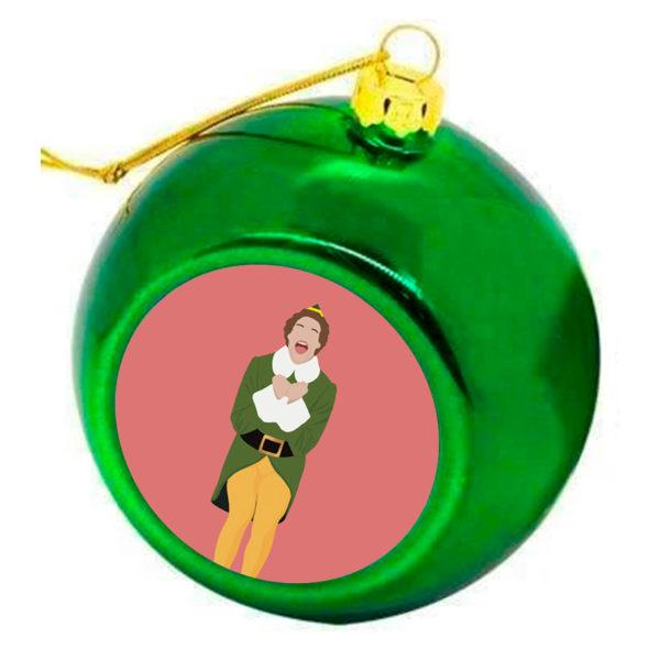 Buddy the Elf Christmas Bauble - Green
