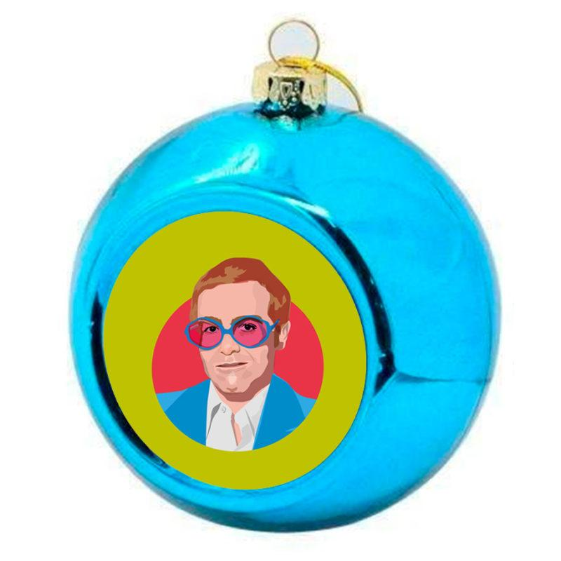 Elton John Christmas Bauble - Blue