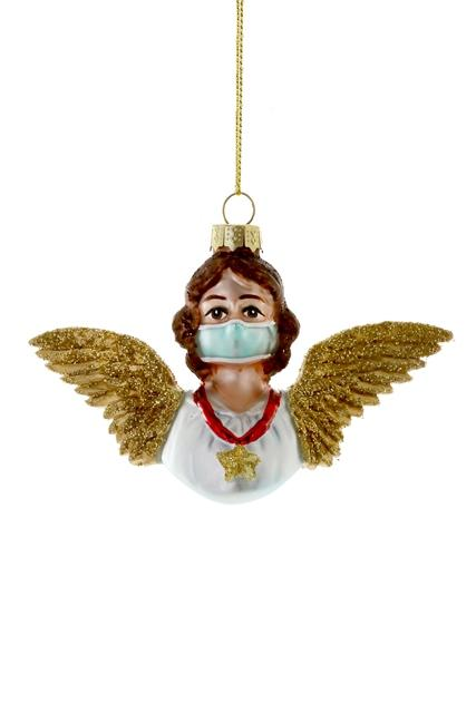 Angel in a Mask Christmas Decoration