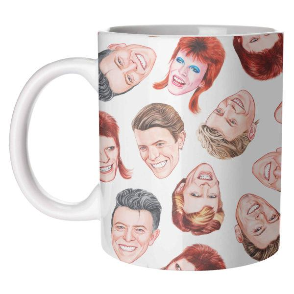 David Bowie Faces Mug