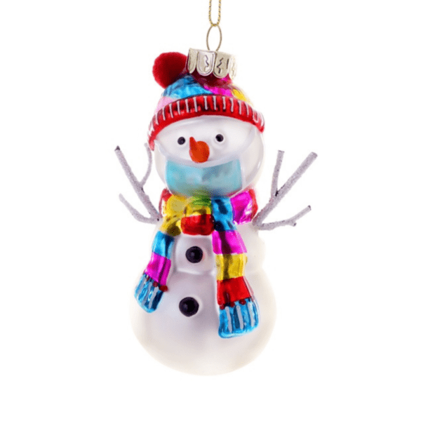 Snowman in a Mask Christmas Decoration