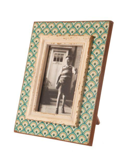 """Boudoir Green Stamp Picture Frame 6x4"""""""