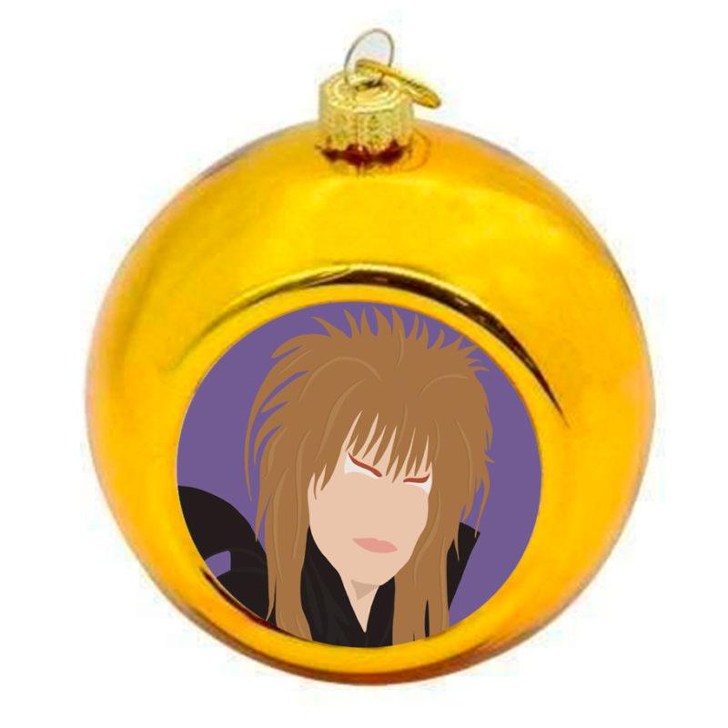 Labyrinth David Bowie Christmas Bauble - Gold