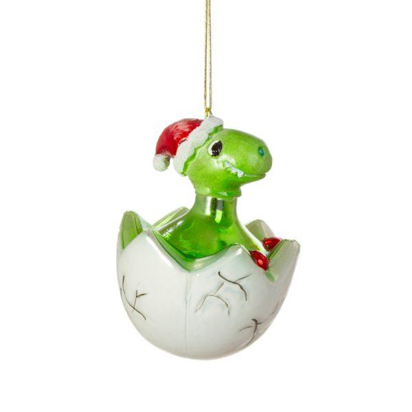 Hatching Baby Dinosaur Glass Decoration