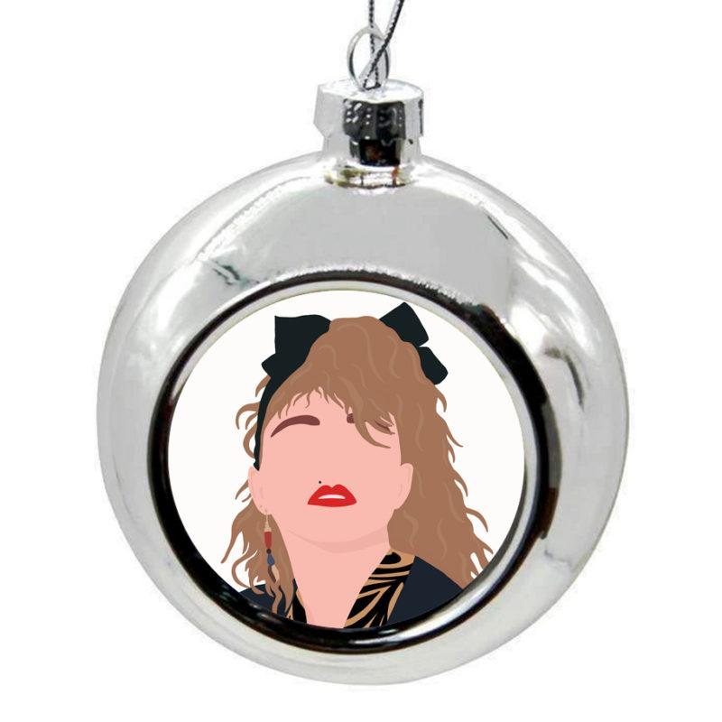 Madonna Christmas Bauble -  Silver