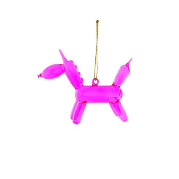 Balloon Pink Unicorn Christmas Decoration