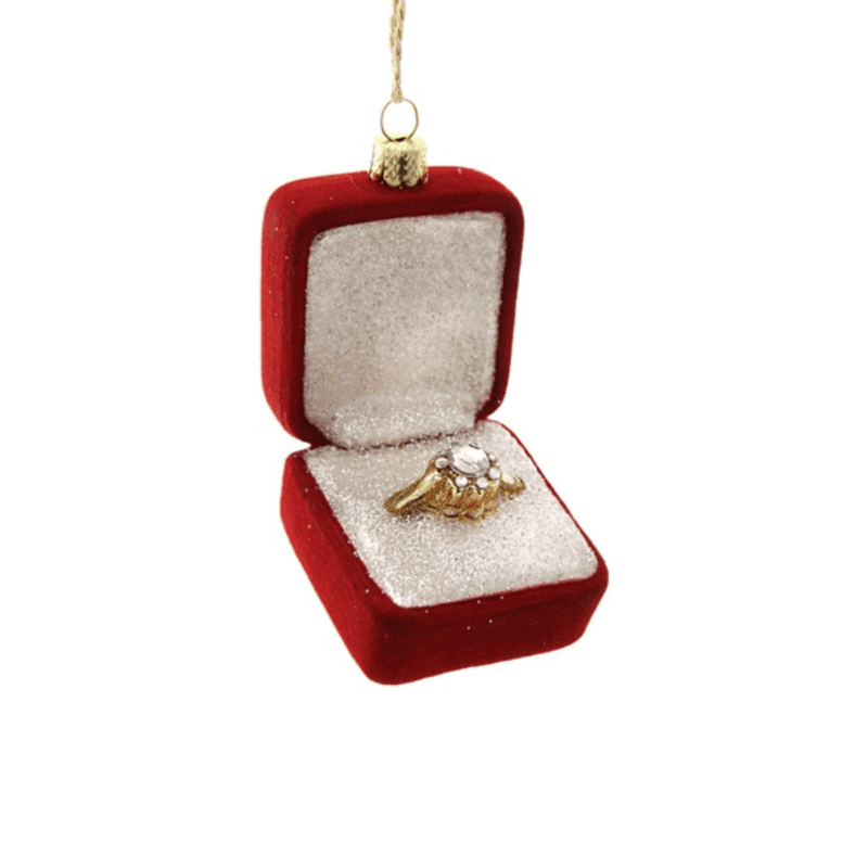 Engagement Ring Christmas Decoration - Red