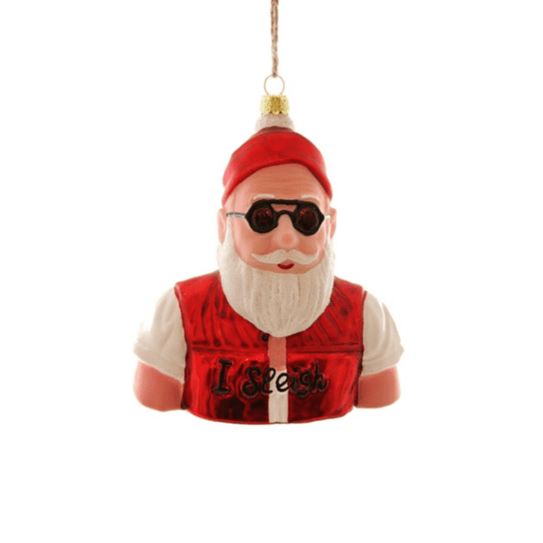 Hipster I Sleigh Santa Christmas Decoration