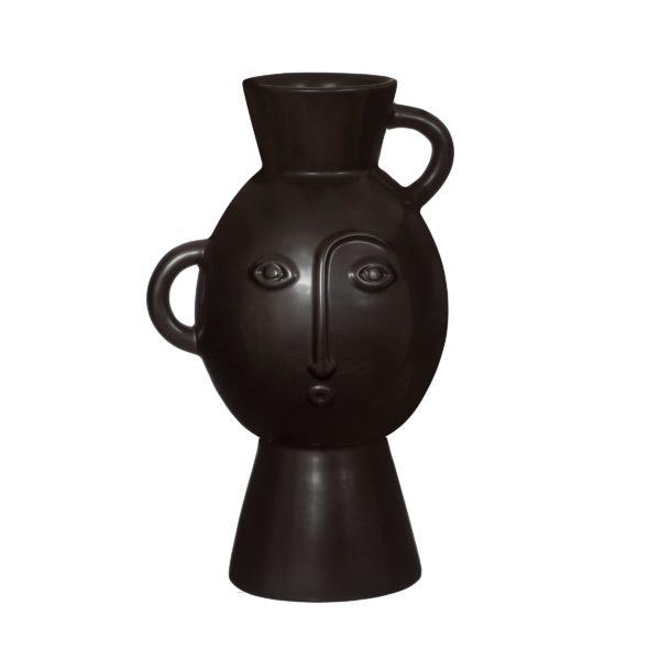 Amira Vase with Handle - Matt Black