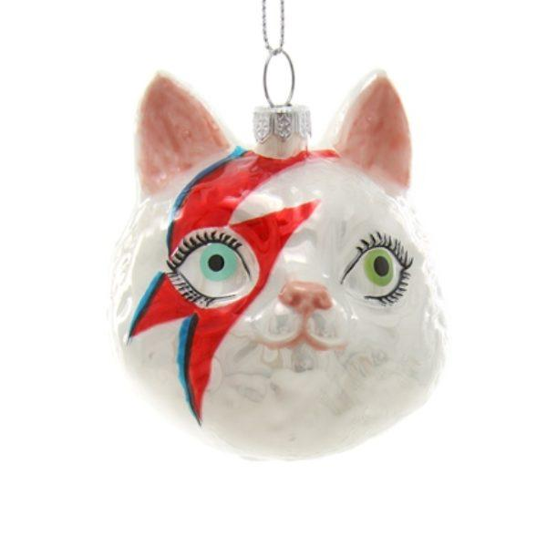 Meowie Bowie Cat Face Christmas Tree Decoration