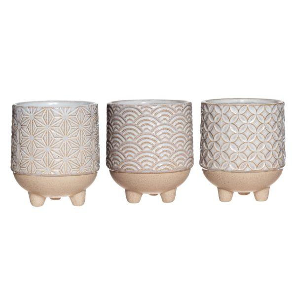 Japandi Mini Planters - Set of 3