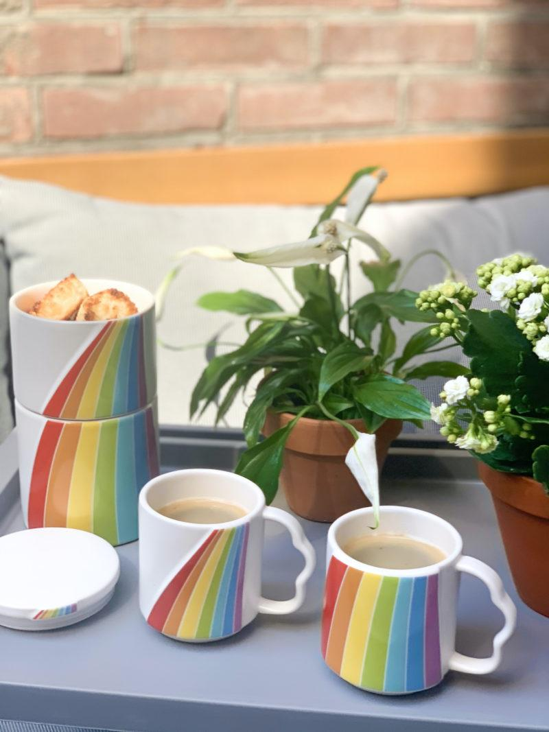 Over The Rainbow Stacking Mugs - Set of 3