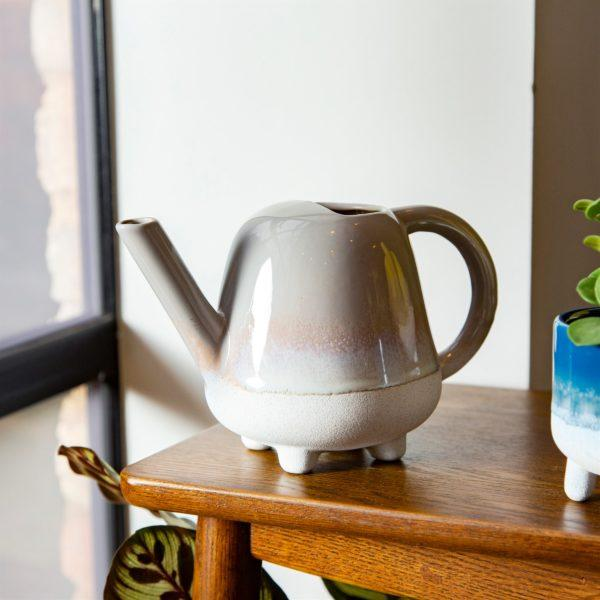 Mojave Dip Glaze Ombre Grey Mini Watering Can