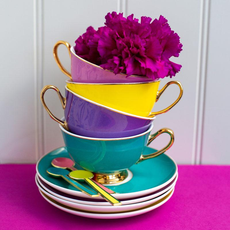 Piccadilly Teacup & Saucer - Teal