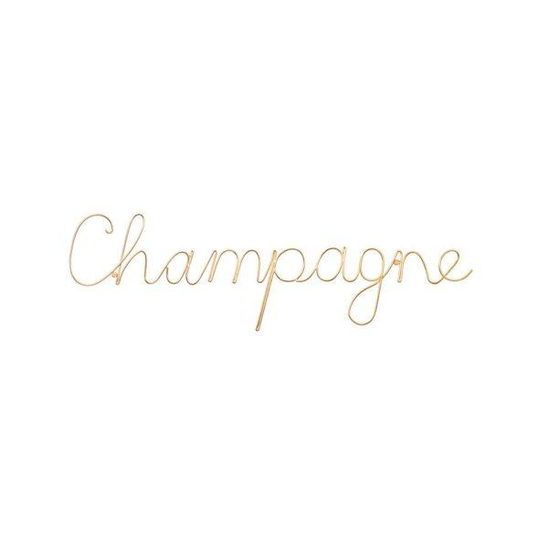 Champagne Wire Word Wall Sign