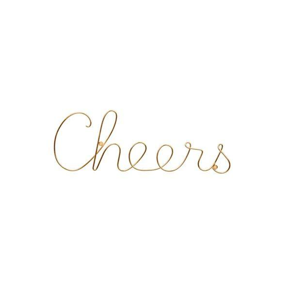 Cheers Wire Word Wall Sign