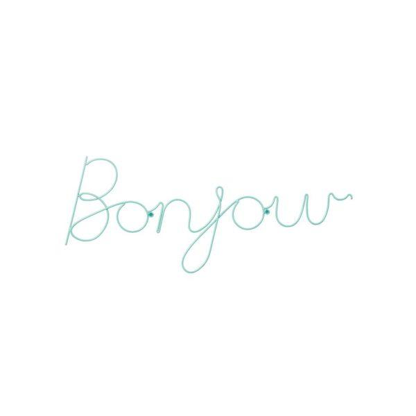 Bonjour Wire Word Wall Sign