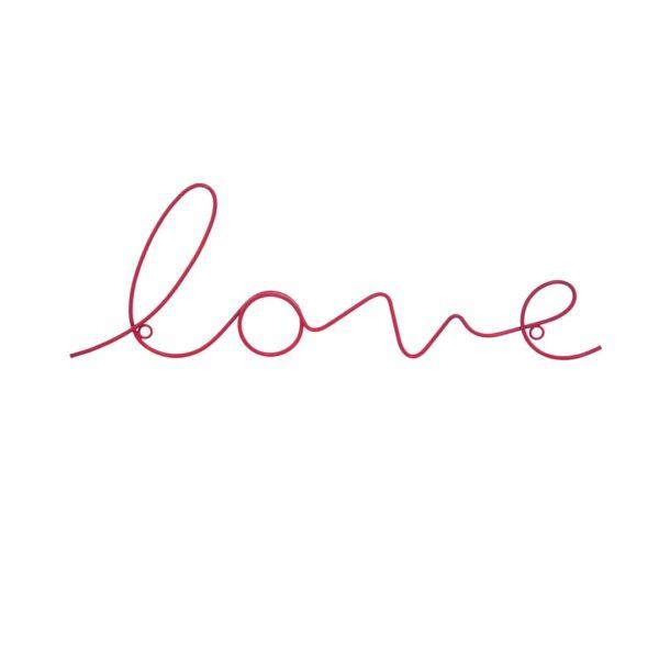 Love Wire Word Wall Sign - Fuchsia