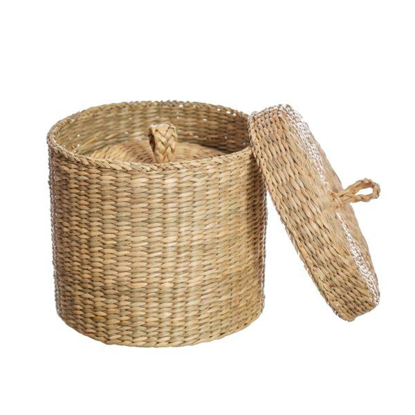 Seagrass Baskets with Lids Set of 2