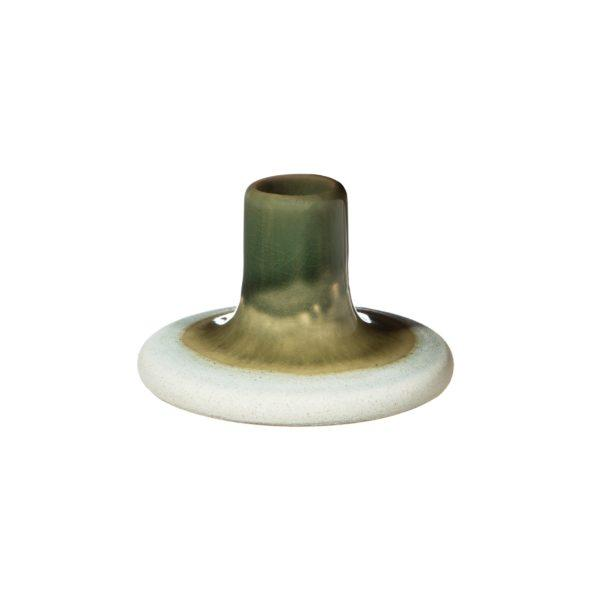 Mojave Glaze Candle Holder - Green