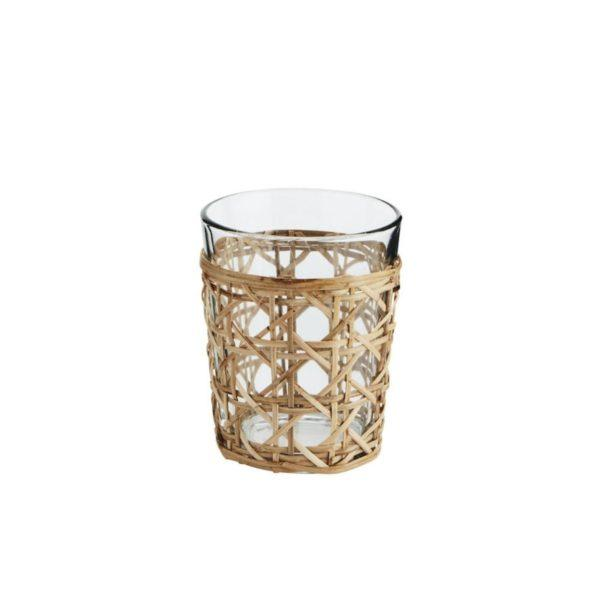 Bamboo Cane Drinking Glass