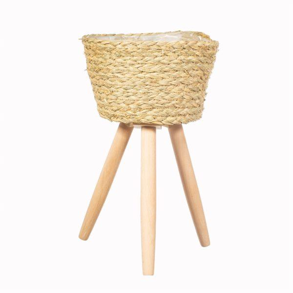 Basket Planter on Leg - Large