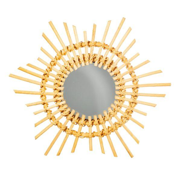 Mini Rattan Sunburst Mirror