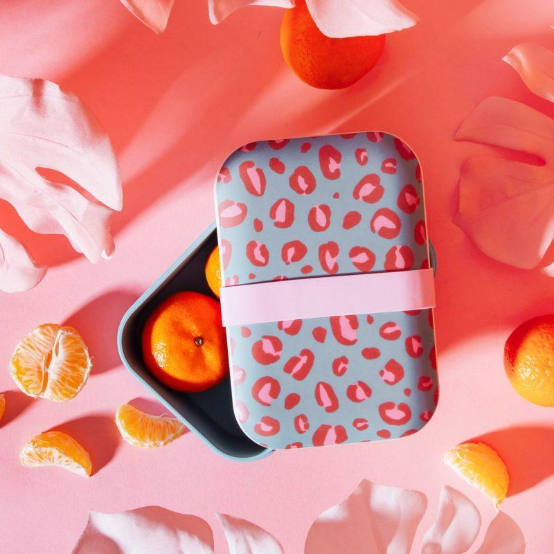 Leopard Print Bamboo Lunch Box