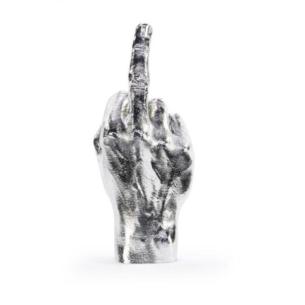 The Finger Hand Sculpture - Silver