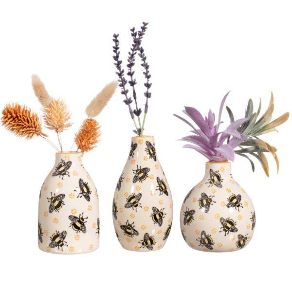 Busy Bee Set of 3 Vase Set