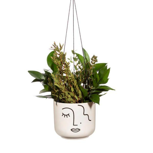 Abstract Face Hanging Planter