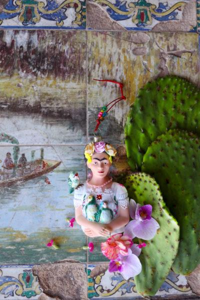 Frida Kahlo with Parrots Christmas Tree Decoration