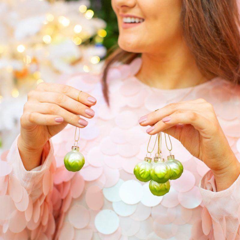 Brussel Sprouts Set of 6 Christmas Decoration