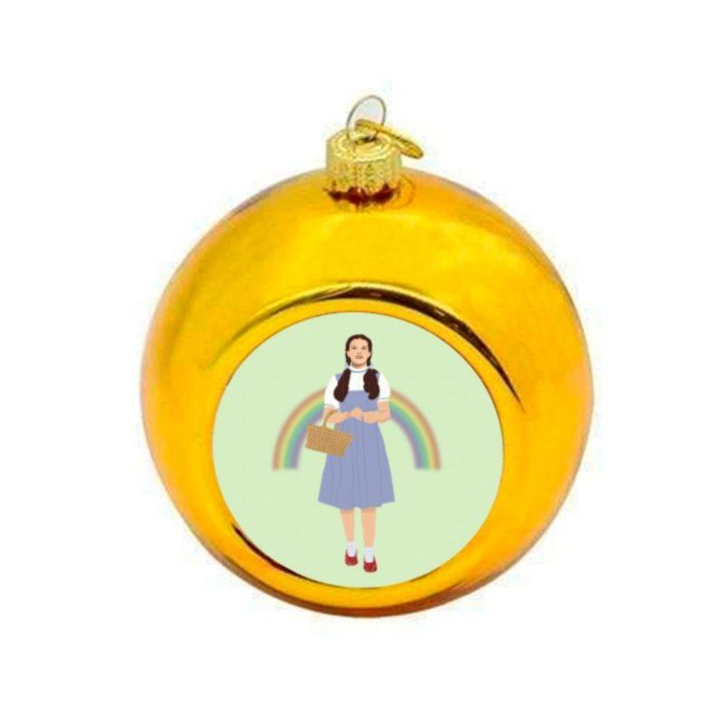 Wizard of Oz Dorothy Christmas Bauble - Gold