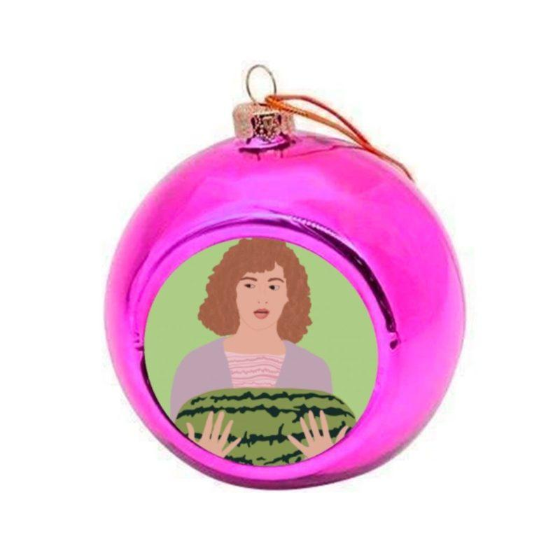 Dirty Dancing I carried a Watermelon Christmas Bauble - Pink
