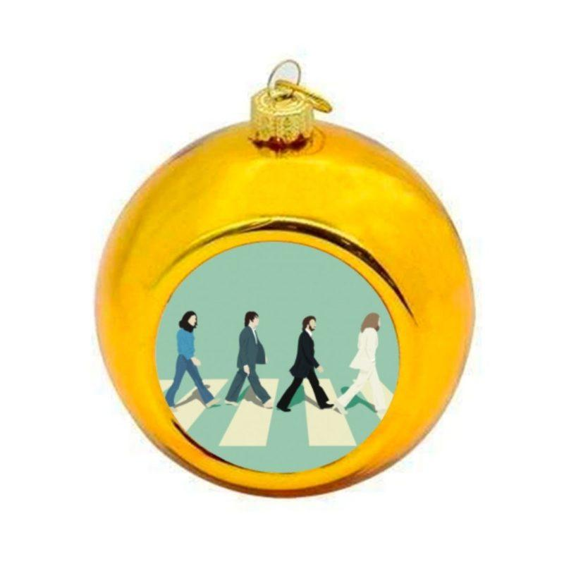 The Beatles Abbey Road Christmas Bauble - Gold