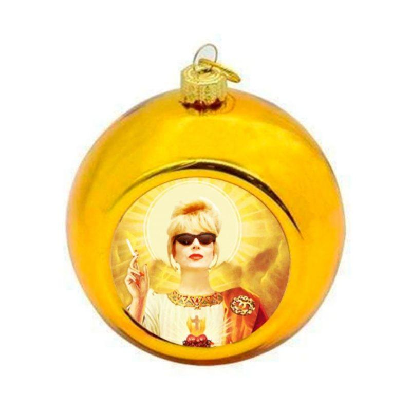 Ab Fab Patsy Christmas Bauble - Gold