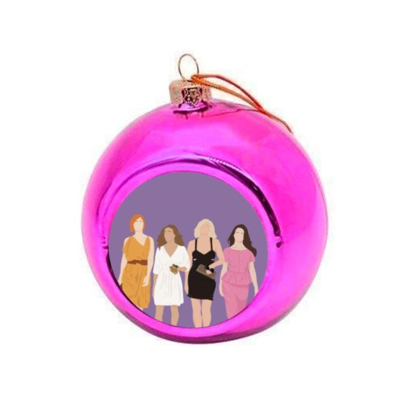 Sex and the City Christmas Bauble - Pink