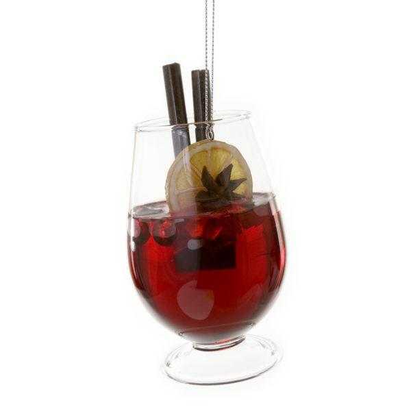 Festive Mulled Gin Glass Christmas Decoration