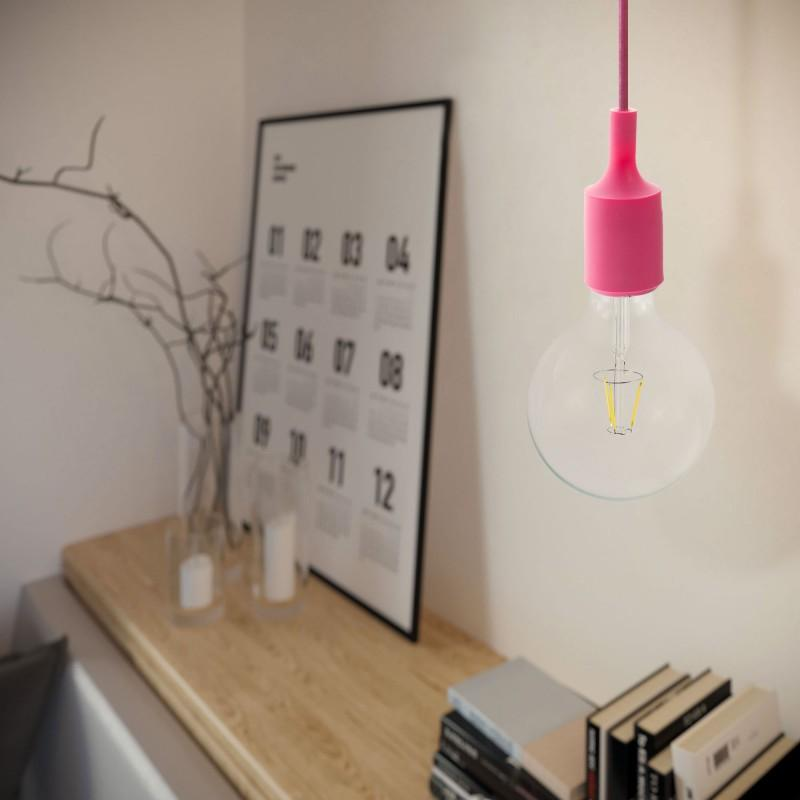 Silicone Pendant Light - Pink