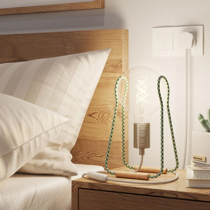 Tache Table Lamp - Green and White