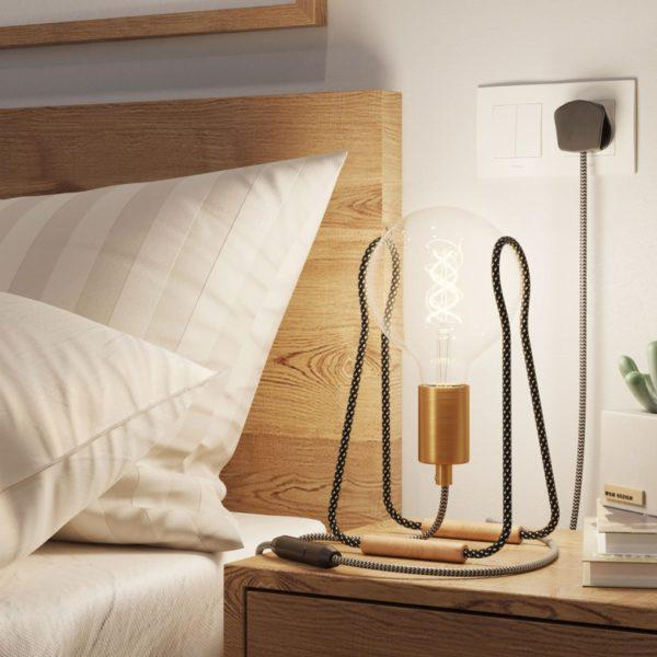 Tache Table Lamp - Black and White