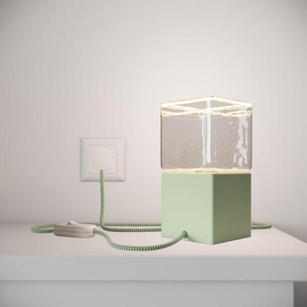 Cube Table Lamp - Green